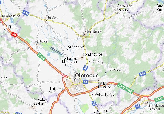 Mapas-Planos Bohuňovice