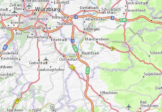 Karte Stadtplan Marktbreit