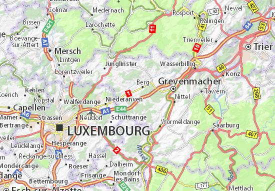 Mapas-Planos Flaxweiler