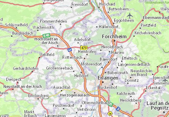 Röttenbach Map