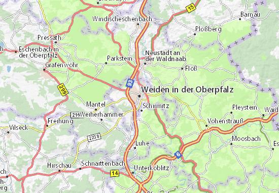 Carte-Plan Weiden in der Oberpfalz