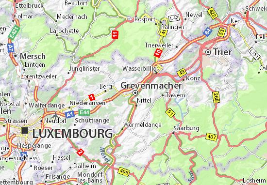 Karte Stadtplan Grevenmacher