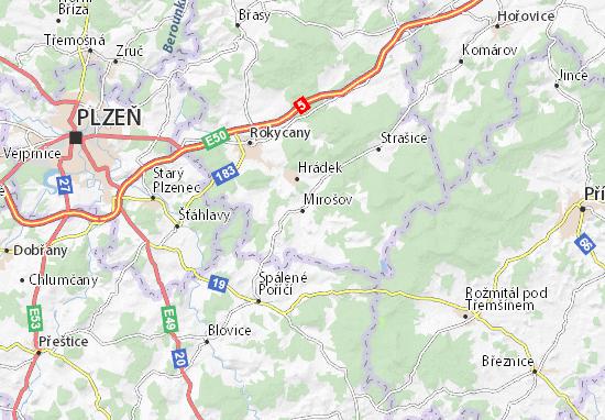 Mirošov Map