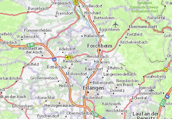 Carte-Plan Heroldsbach