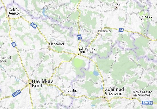 Mapas-Planos Ždírec nad Doubravou