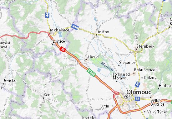 Karte Stadtplan Litovel
