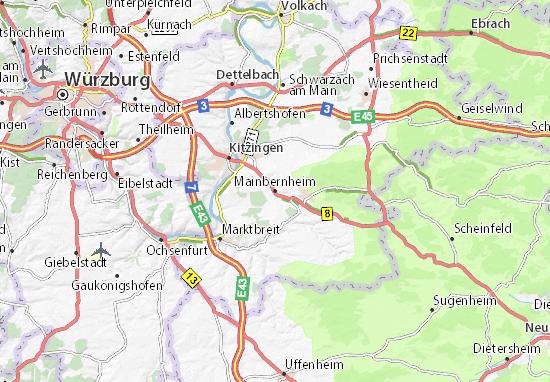 Karte Stadtplan Mainbernheim