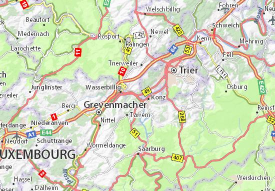 Karte Stadtplan Igel