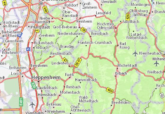 Karte Stadtplan Reichelsheim