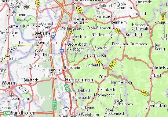 Kaart Plattegrond Reichenbach