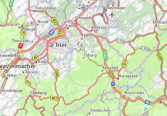 Karte Stadtplan Osburg