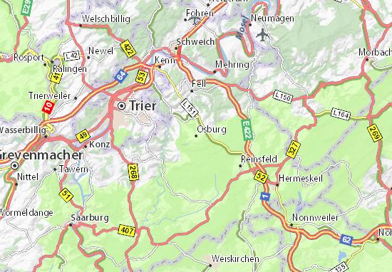 Carte-Plan Osburg