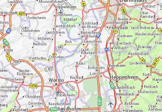 Carte-Plan Groß-Rohrheim