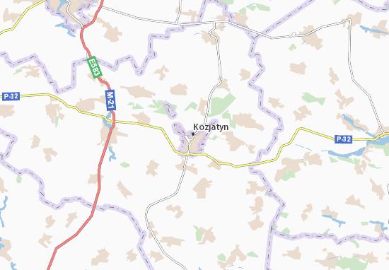 Carte-Plan Kozjatyn