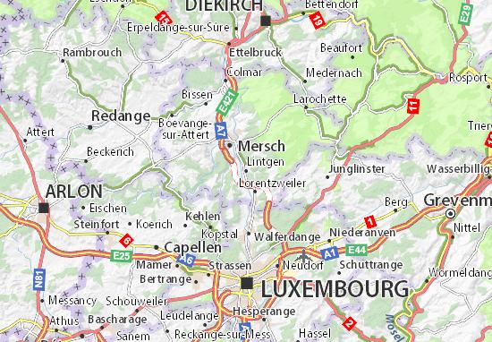 Karte Stadtplan Lintgen