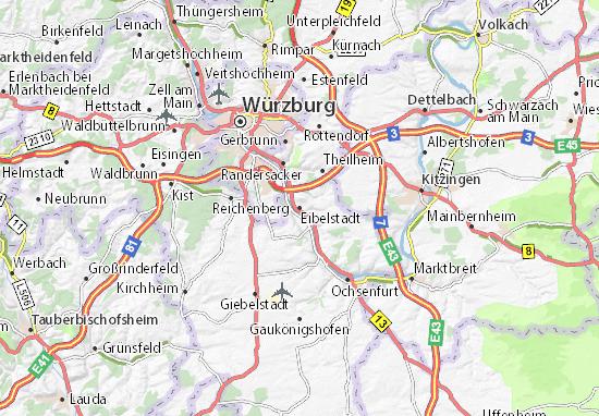 Karte Stadtplan Eibelstadt