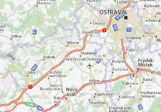 Studénka Map