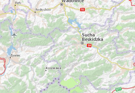 Mapa Stryszawa