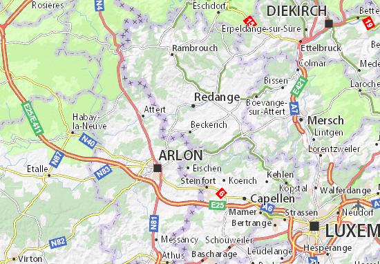Beckerich Map