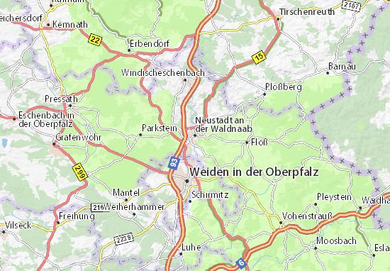 Carte-Plan Neustadt an der Waldnaab