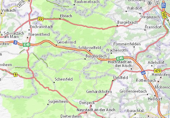 Karte Stadtplan Burghaslach