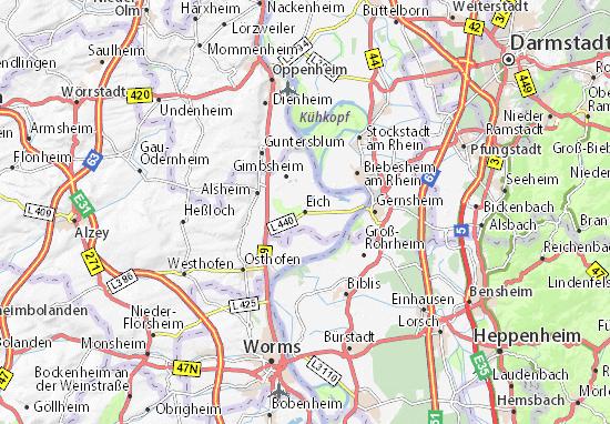 Karte Stadtplan Eich