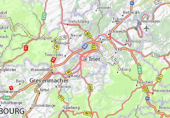 Karte Stadtplan Trier