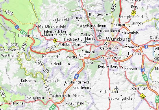 Karte Stadtplan Waldbrunn