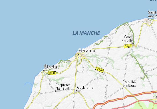 Kaart Plattegrond Fécamp