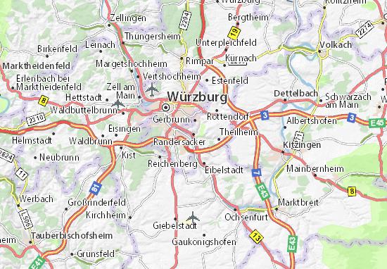 Karte Stadtplan Randersacker