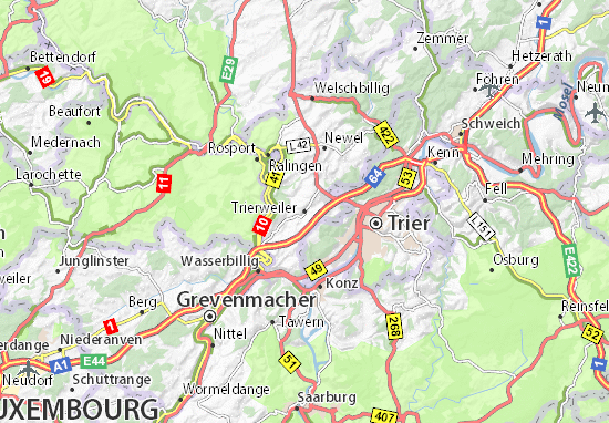 Mapa Plano Trierweiler