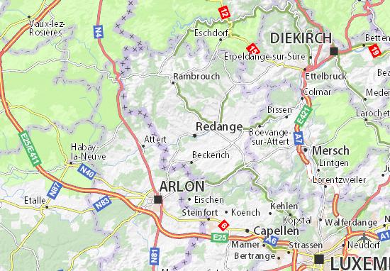 Redange Map