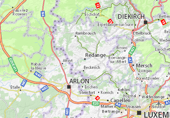 Mapas-Planos Redange
