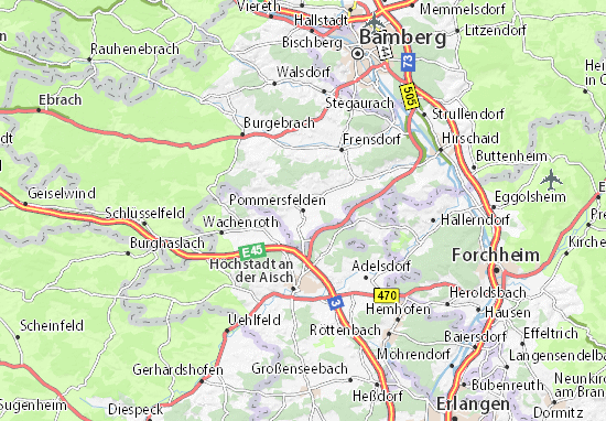Carte-Plan Pommersfelden