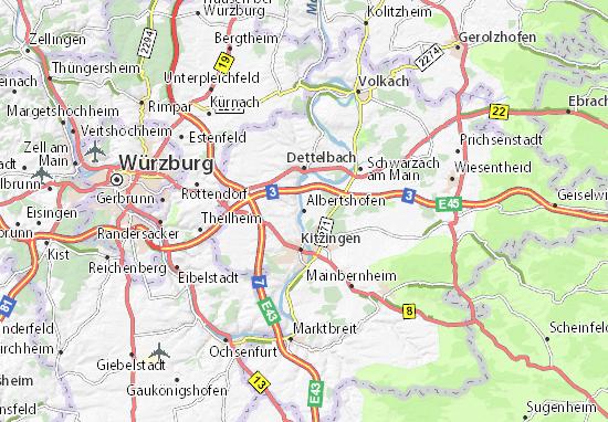 Karte Stadtplan Albertshofen