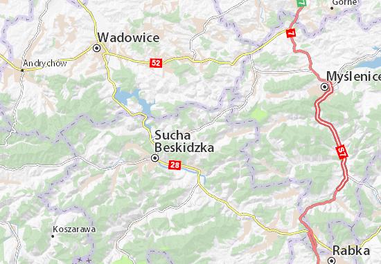 Mapa Budzów