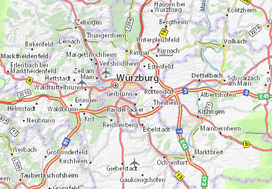 Karte Stadtplan Gerbrunn
