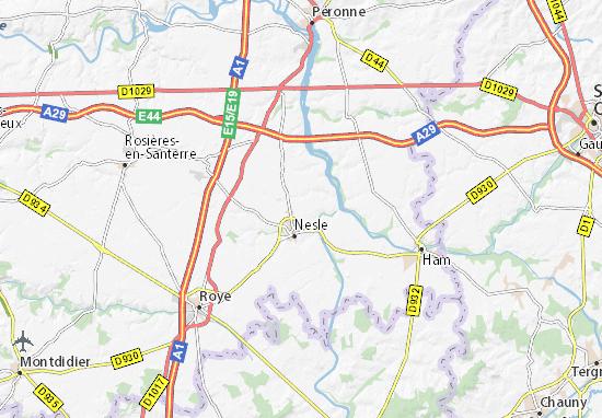 Mappe-Piantine Mesnil-Saint-Nicaise-le-Grand