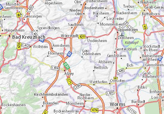 Carte-Plan Gau-Odernheim
