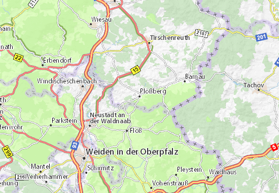 Carte-Plan Plößberg