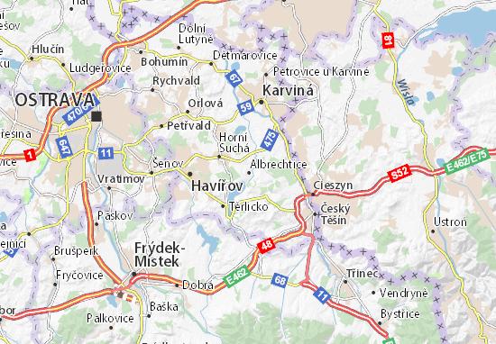 Mapa Albrechtice