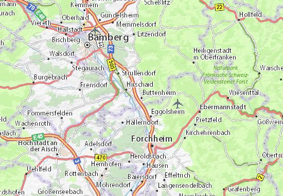 Karte Stadtplan Buttenheim