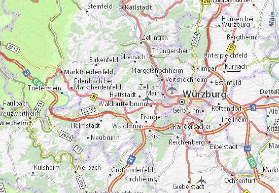 Karte Stadtplan Hettstadt