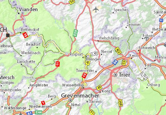 Karte Stadtplan Rosport