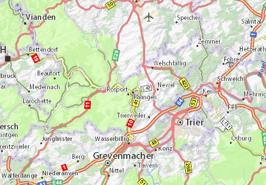 Karte Stadtplan Ralingen