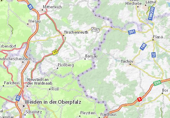 Bärnau Map