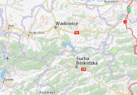 Mapa Mucharz