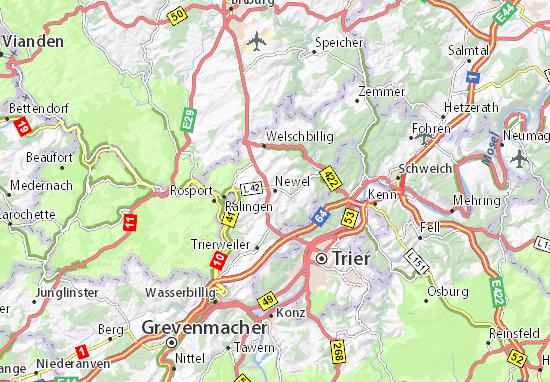 Karte Stadtplan Newel
