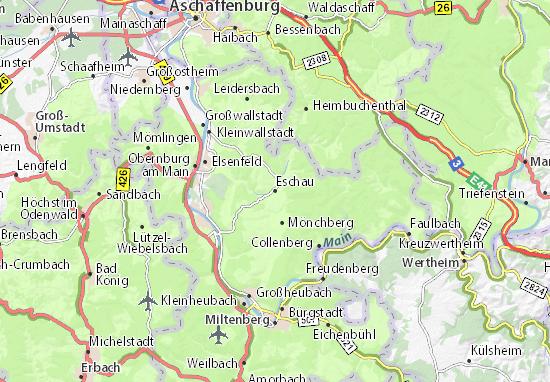 Karte Stadtplan Eschau
