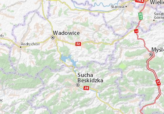 Mapa Stryszów